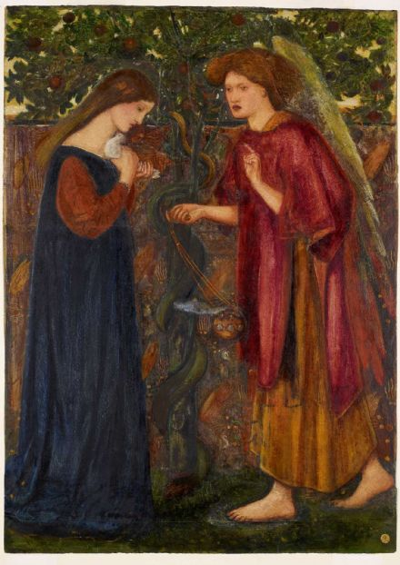Burne-Jones, Sir Edward Coley: The Annunciation. Fine Art Print/Poster (4356)